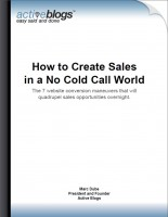 How to create sale in a no cold call world