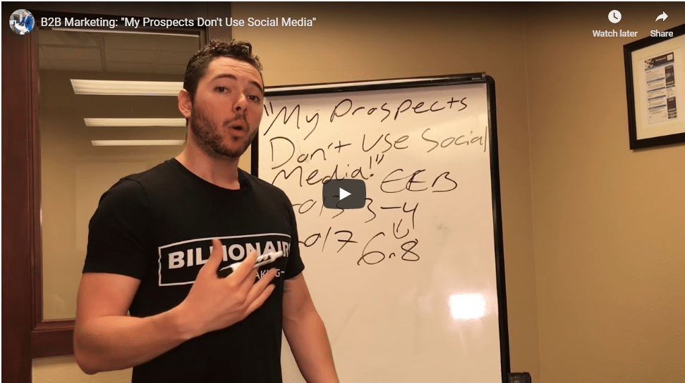 "B2B Marketing: ""My Prospects Don't Use Social Media"""