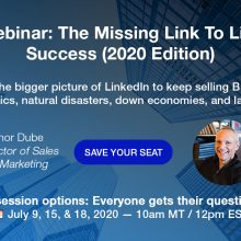 Missing Link to LinkedIn Success Webinar Ref